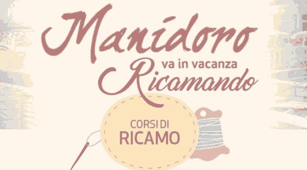 Manidoro va in vacanza ricamando